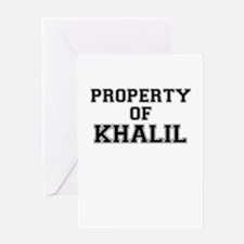 Property of KHALIL Greeting Cards