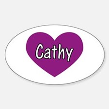 Cathy Oval Decal