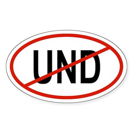 UND Oval Sticker