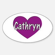 Cathryn Oval Decal
