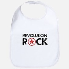 rev-rock-02-(white) Baby Bib