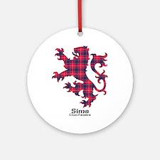 Lion-Sims.Fraser Round Ornament