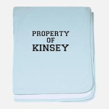 Property of KINSEY baby blanket