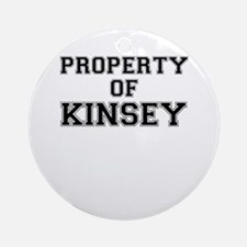 Property of KINSEY Round Ornament