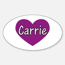 Carrie Oval Decal