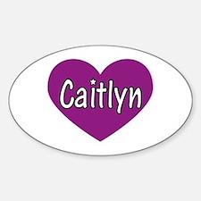Caitlyn Oval Decal