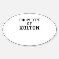 Property of KOLTON Decal