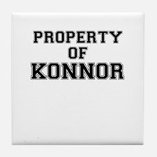Property of KONNOR Tile Coaster