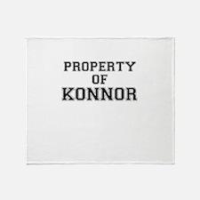 Property of KONNOR Throw Blanket