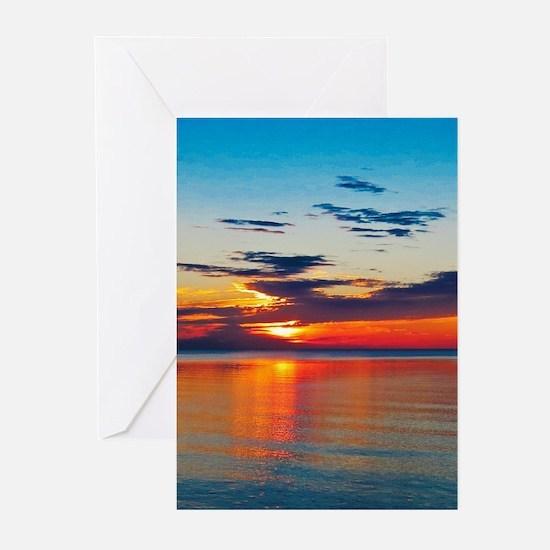 Evening Sunset Greeting Cards