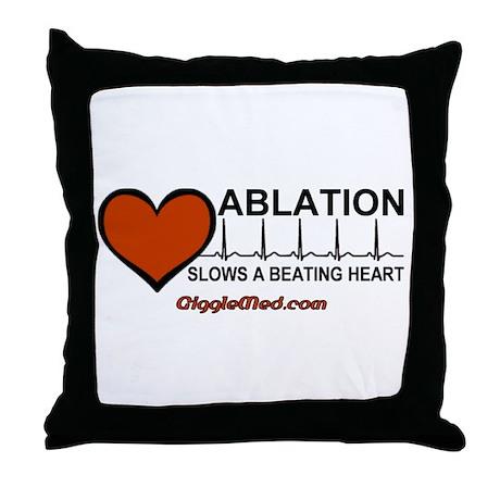 Ablation Slows Beating HeartT Throw Pillow
