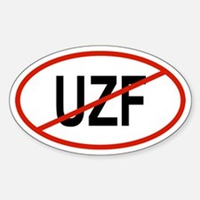 UZF Oval Decal