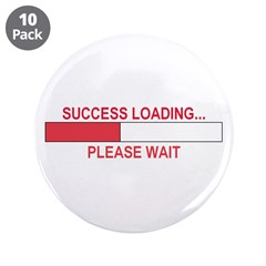"SUCCESS LOADING... 3.5"" Button (10 pack)"