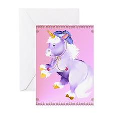 Cowboy Unicorn Greeting Card