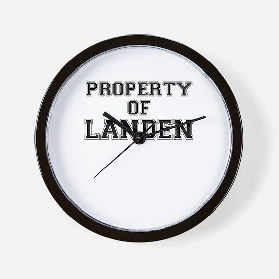 Property of LANDEN Wall Clock