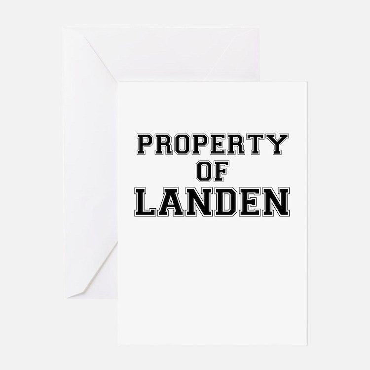 Property of LANDEN Greeting Cards
