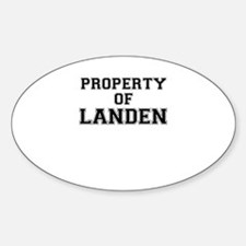 Property of LANDEN Decal