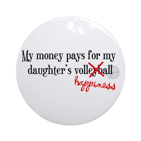 Volleyball Happiness Ornament (Round)