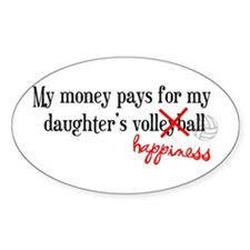 Volleyball Happiness Oval Decal