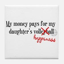 Volleyball Happiness Tile Coaster
