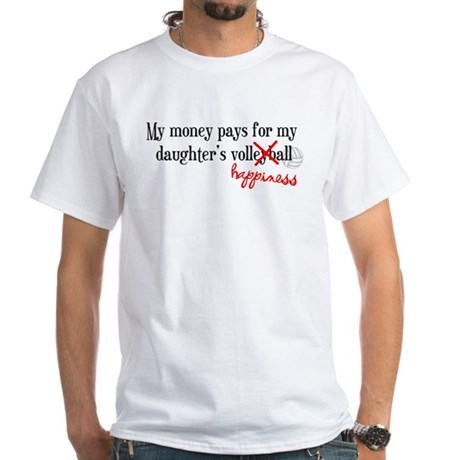 Volleyball Happiness White T-Shirt