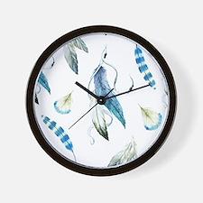 Dreamcatcher Feathers Wall Clock