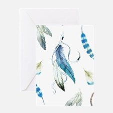 Dreamcatcher Feathers Greeting Card