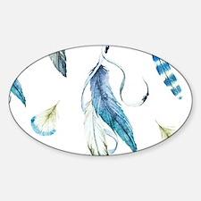 Dreamcatcher Feathers Sticker (Oval)