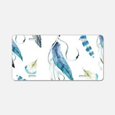 Dreamcatcher Feathers Aluminum License Plate