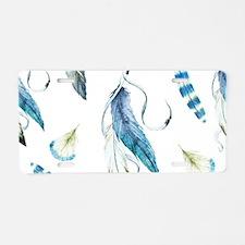Dreamcatcher Feathers Aluminum License Plate
