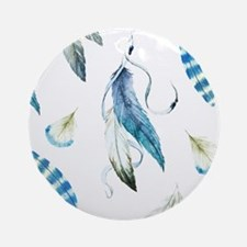 Dreamcatcher Feathers Round Ornament