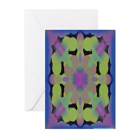 Neon Dots Greeting Cards (Pk of 10)