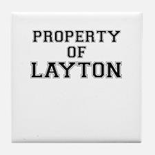 Property of LAYTON Tile Coaster