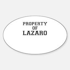Property of LAZARO Decal