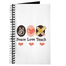 Peace Love Teach Teacher Journal