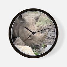 Unique Black rhino Wall Clock