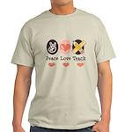 Peace Love Teach Teacher Light T-Shirt