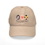 Peace Love Teach Teacher Cap