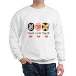 Peace Love Teach Teacher Sweatshirt
