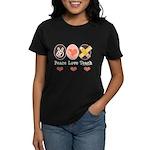 Peace Love Teach Teacher Women's Dark T-Shirt