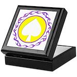 Flaming Spade Gambler Keepsake Box
