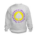 Flaming Spade Gambler Kids Sweatshirt
