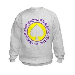 Flaming Spade Gambler Sweatshirt