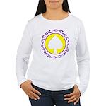 Flaming Spade Gambler Women's Long Sleeve T-Shirt
