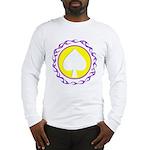 Flaming Spade Gambler Long Sleeve T-Shirt