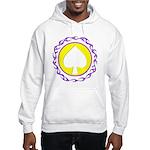 Flaming Spade Gambler Hooded Sweatshirt