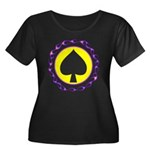 Flaming Spade Gambler Women's Plus Size Scoop Neck