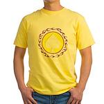Flaming Spade Gambler Yellow T-Shirt
