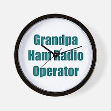 Grandpa Ham Radio Operator Wall Clock