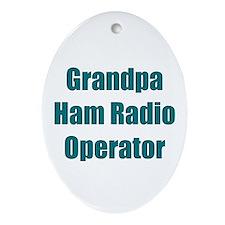 Grandpa Ham Radio Operator Oval Ornament